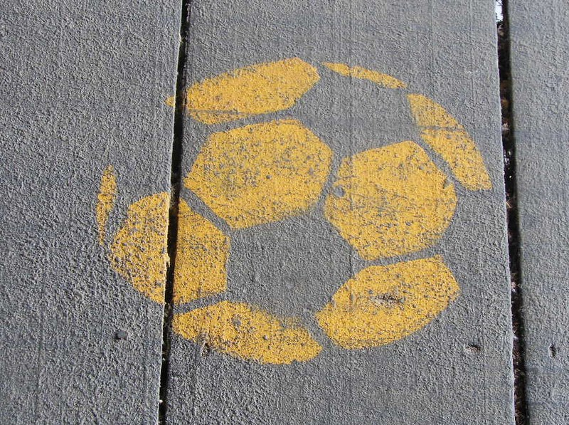 Soccer Ball Imprint by mikecogh is licensed under CC BY SA 2.0