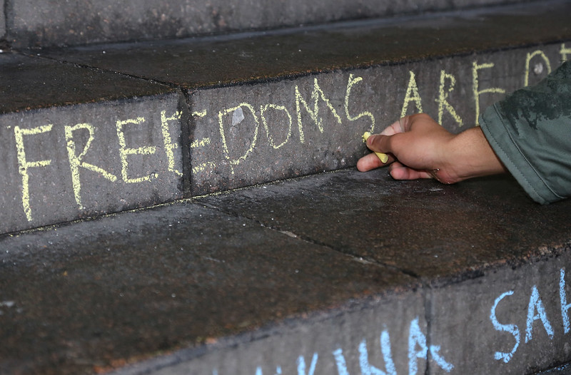Chalking the Universal Declaration of Human Rights 2015