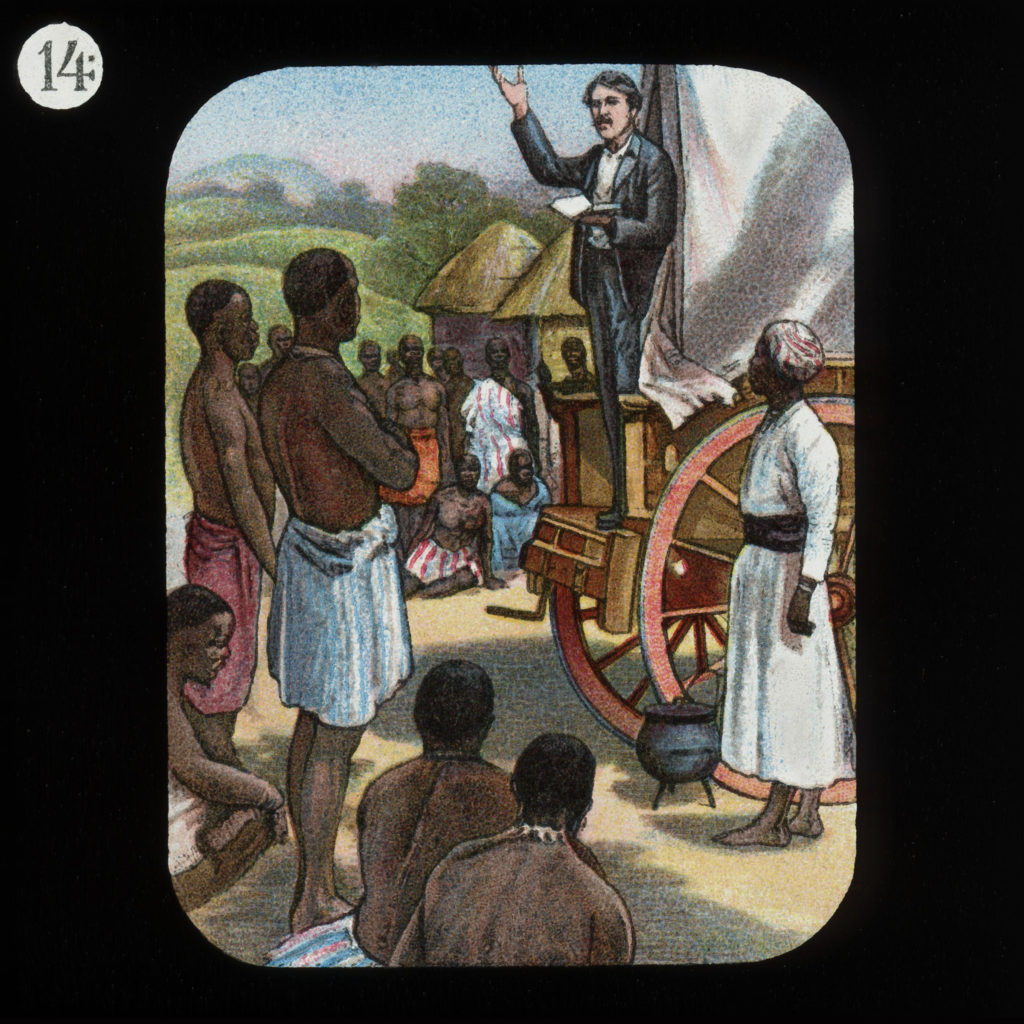 Preaching from a Waggon David Livingstone by The London Missionary Society