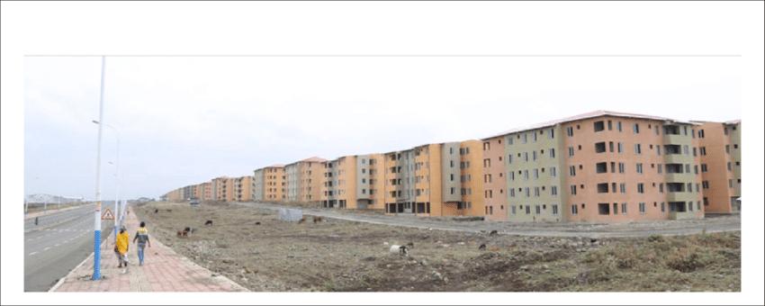 Condominiums built in Koye Feche in the framework of the IHDP Addis Ababa Ethiopia